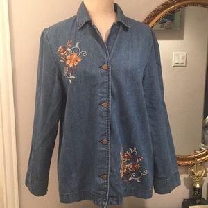 Classic Elements Denim Embroidered Shirt